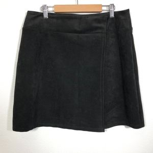 After Party Nasty Gal Faux Suede Mini Wrap Skirt